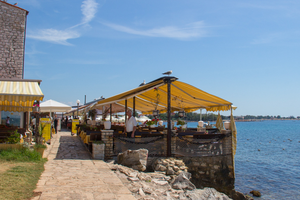 Amfora Restaurant in the old town of Umag on the Istrian Coast in Croatia