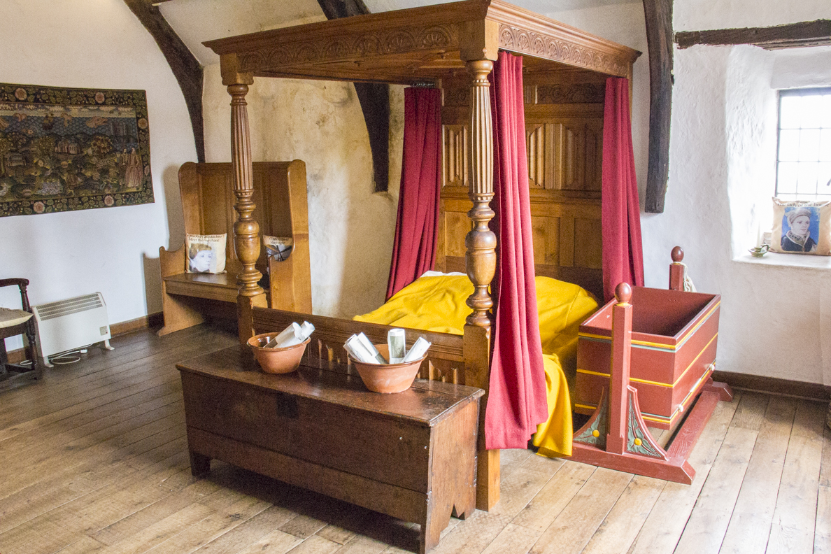 Bedroom in the Tudor Merchant's House in Tenby Pembrokeshire, Wales  6318
