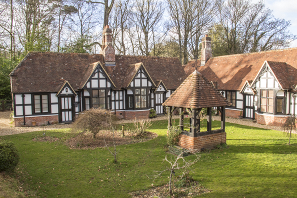 Boultbee Cottages the almshouses at Emery Down in Lyndhurst in the New Forest. England