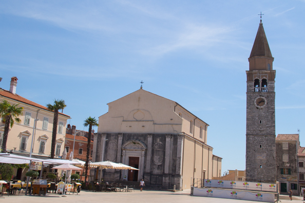 Church of The Assumption of Virgin Mary and St. Peregrine in Umag on the Istrian Coast in Croatia