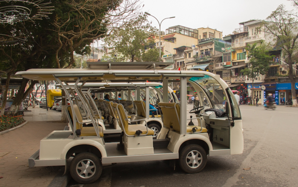 Electric tourist cars in Hanoi Vietnam
