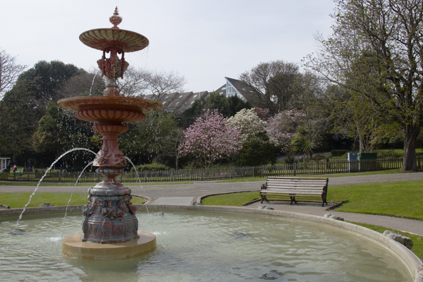 The fountain in Poole Park, Poole