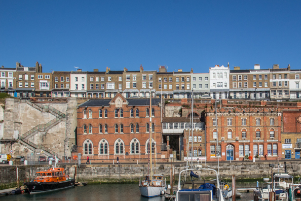 Jacobs Ladder, the Sailors' Church and the home for Smack boys on the Royal Harbour of Ramsgate, Thanet, Kent