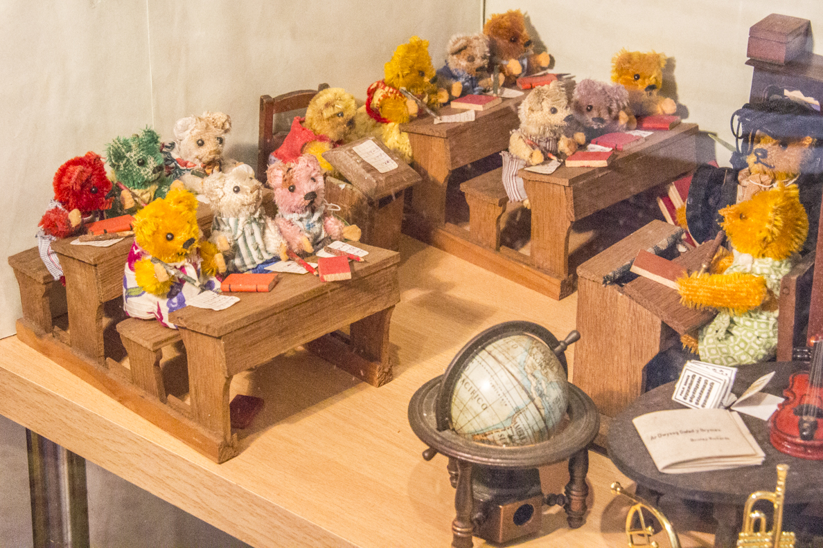 Miniature teddy bears at the Toy Museum in Newport, Pembrokeshire, Wales   8720