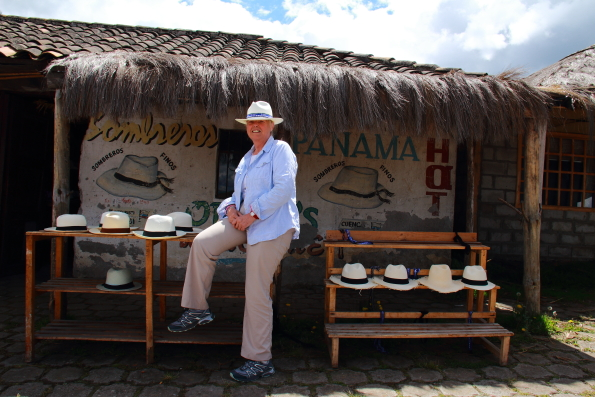 A Panama hat shop in Ecuador
