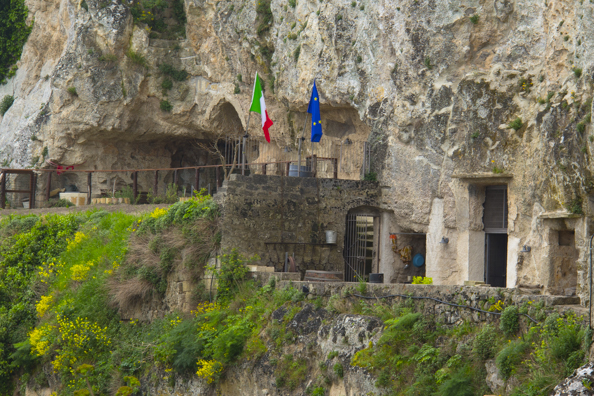 Private monastery and museum in Sasso Caveoso, Matera in Italy