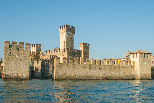 Rocca Scaligera a Scaligeri castle in Sirmione on Lake Garda in Italy