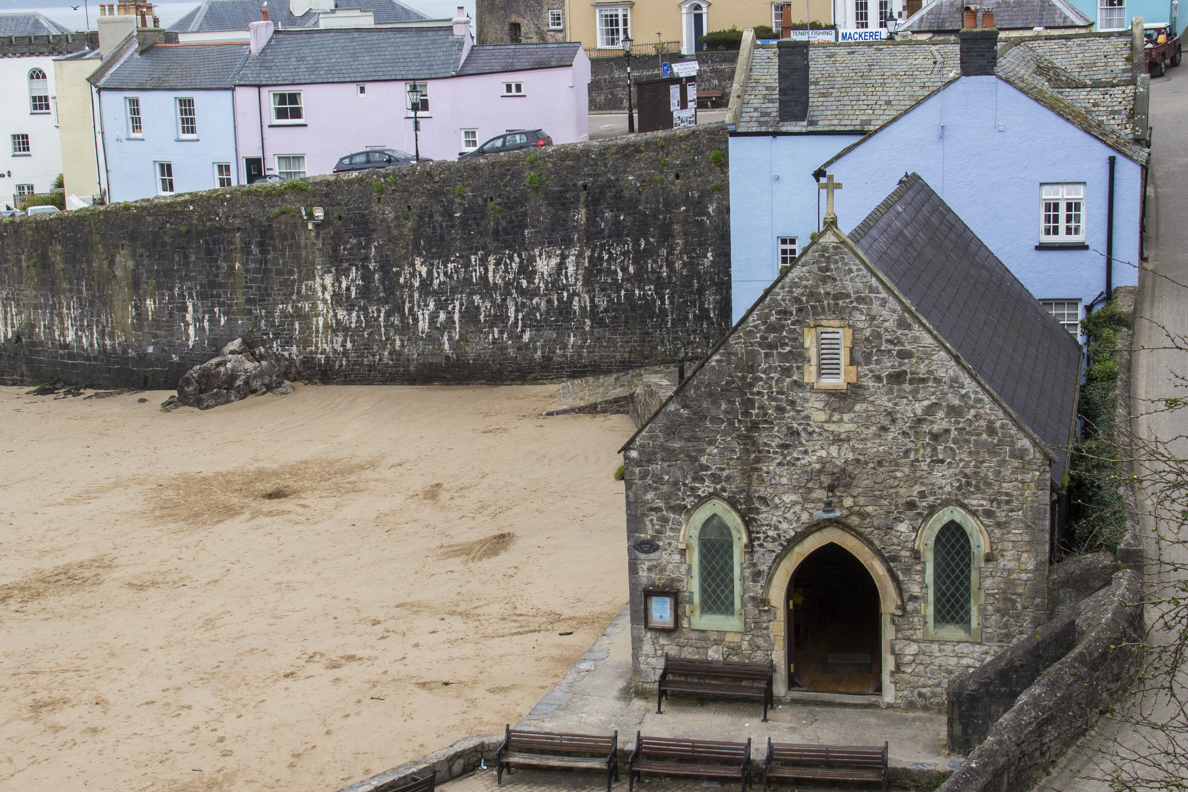 The Church of Saint Julian on the Sea Front at Tenby Pembrokeshire, Wales  6411