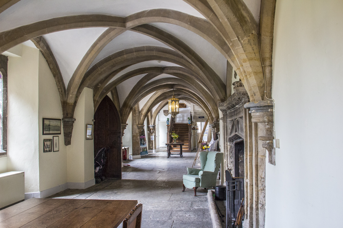 The entrance hall in the Biship's Palace in Wells, Somerset, England   20185303