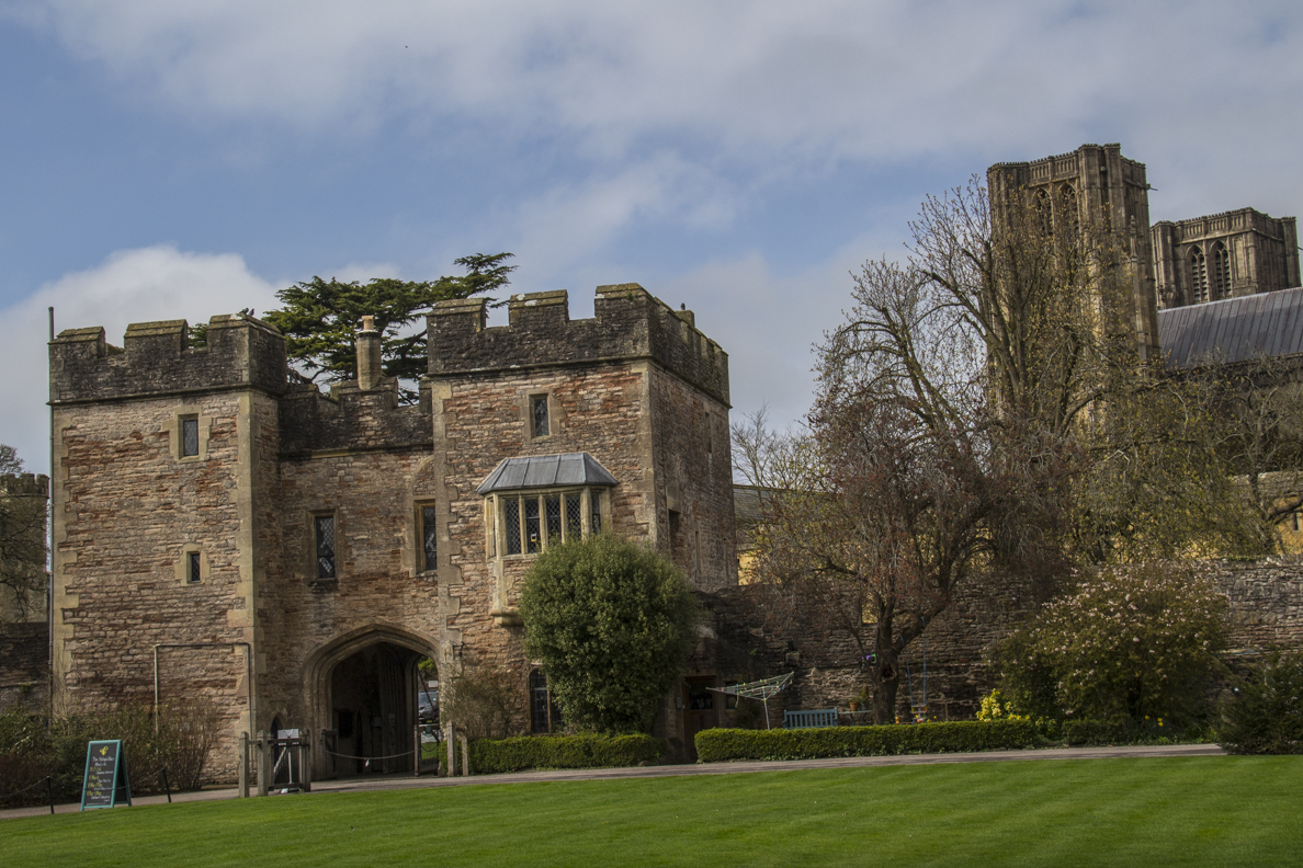 The Gatehouse of the Bishop's Palace in Wells, Somerset, England   20185339