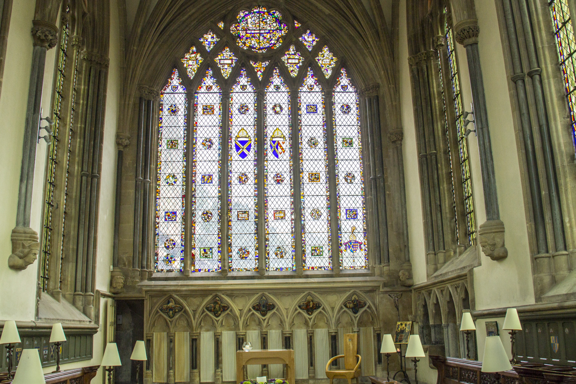 The interior of the Bishop's Chapel in the Biship's Palace in Wells, Somerset, England   20185302