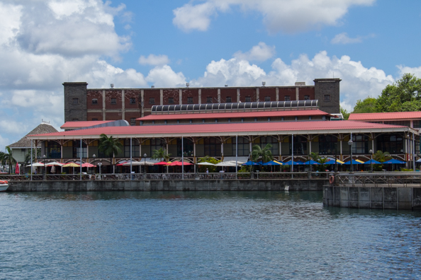 The shopping centre on the waterfront of Port Louis on Maurtius
