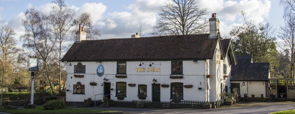 The Swan on Swan Green in Lyndhurst in the New Forest. England