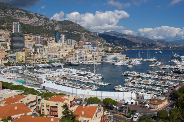 The Waterfront of Monte Carlo in Monaco