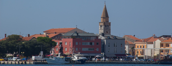 By the Seaside in Umag on the Istrian Coast of Croatia