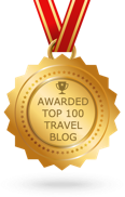 Awarded top 100 travel blog